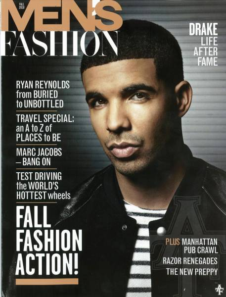 Picture Drake Covers Men S Fashion Magazine Fall 2010