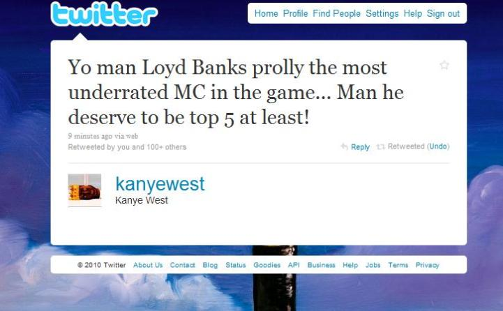 kanye-lloyd-banks-tweet