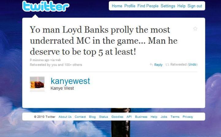kanye-lloyd-banks-tweet