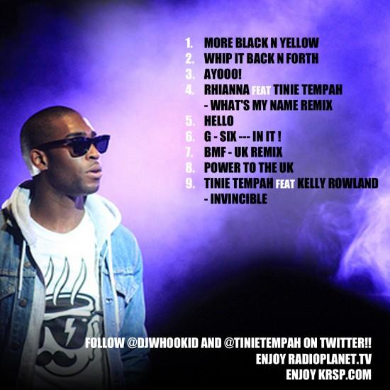tinie tempah album. Tinie Tempah raps over Black