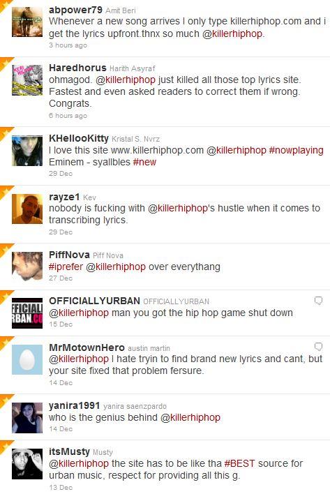 killerhiphop tweets