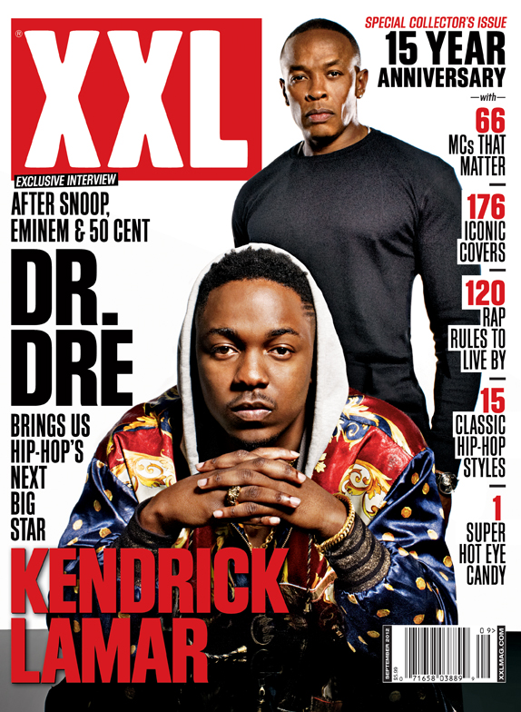 Kendrick Lamar & Dr. Dre Cover XXL 15th Anniversary Issue ...