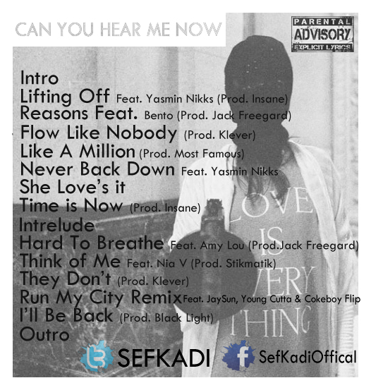 Can You Hear Me Now Tracklist