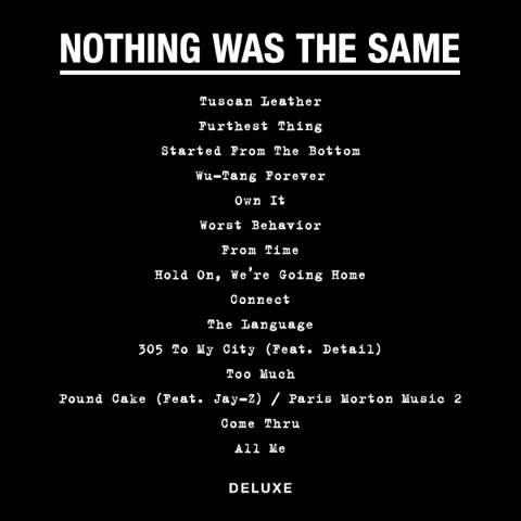 drake-nothing-was-the-same-tracklist