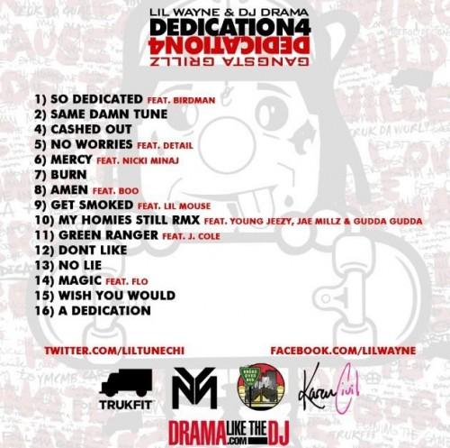 dedication-4-tracklist