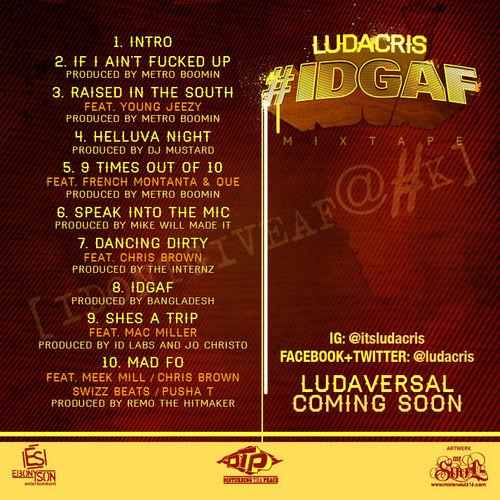 IDGAF Tracklist