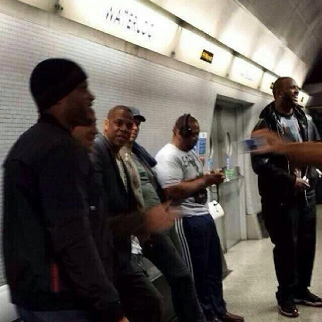 Jay-Z-Timbaland-at-the-Waterloo-Tube-Station